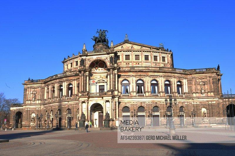 Tourist attraction: Dresdens restored Semper Opera.