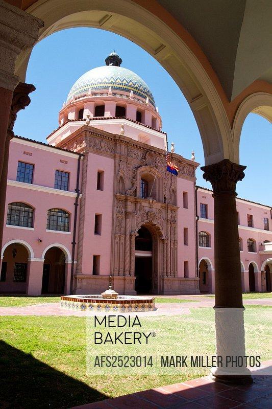 Pima County Courthouse in El Presidio district, Tuscon, Arizona, USA