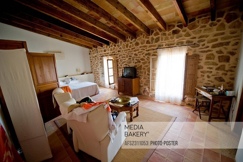 Bedroom of Sos Ferres on Majorca in Spain