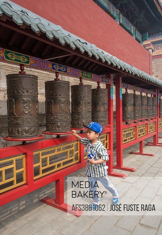 China, Chengde City, Punning Temple.