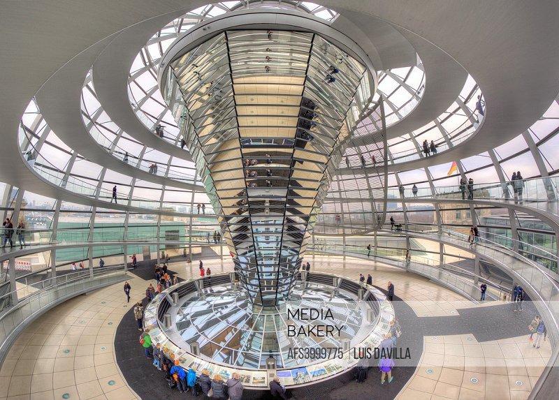 Inside Reichstad Dome. Berlin