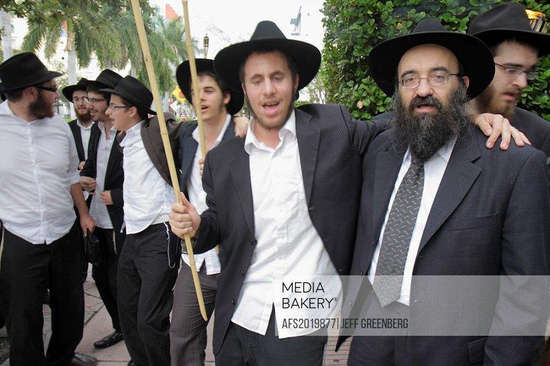 Florida, Miami Beach, Jewish Museum of Florida, celebration, completion, new Sefer Torah, Orthodox Jew, rabbi, student, Chabad Lubavitch, Hasidic, rel...