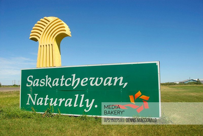 Welcome to Saskatchewan Canada sign