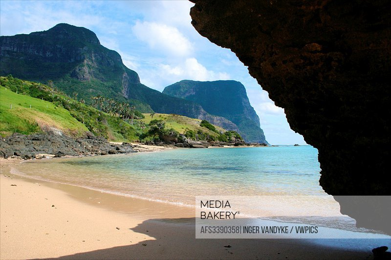 The secluded beach at Lover´s Bay on Lord Howe Island, Australia.