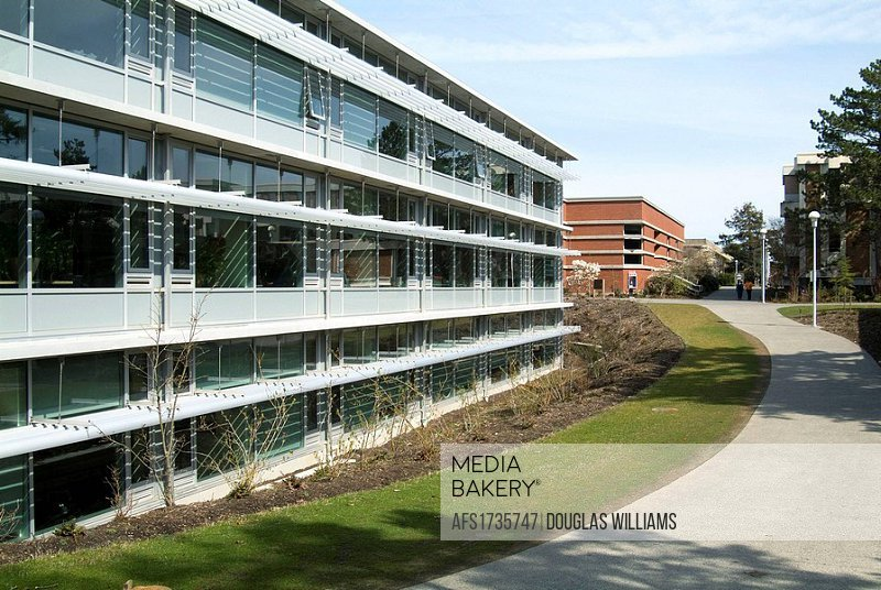 Math and Social Science Building at the University of Victoria, Victoria, BC, Canada