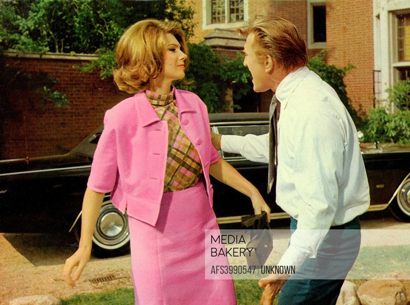 The Actors Kirk Douglas And Sylvia Koscina In A Scene From Movie Lovely Way