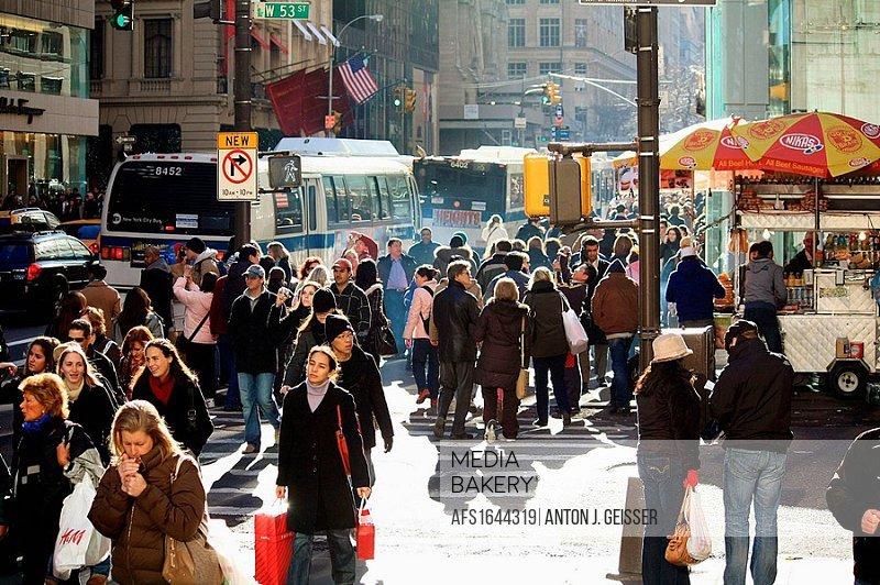 Daytime Traffic Manhattan New York City USA