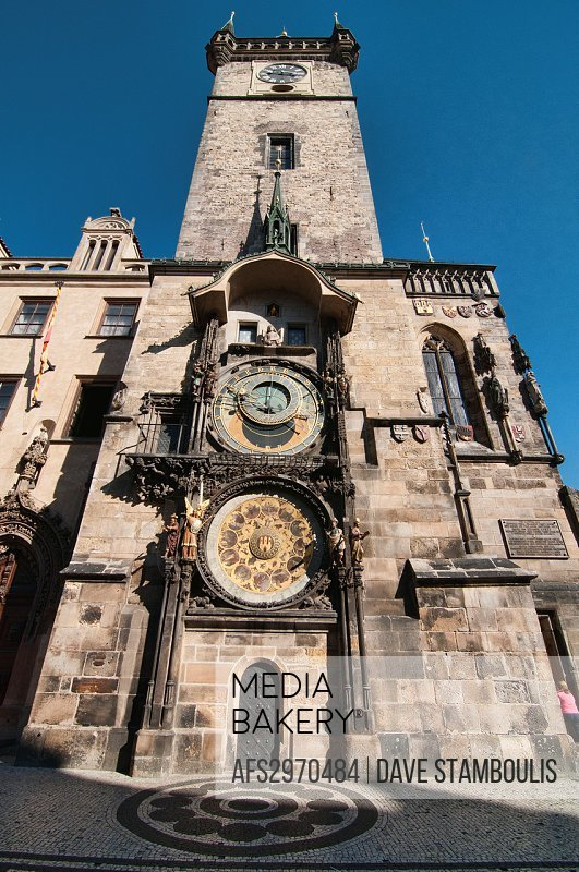 The Astronomical Clock in the Old Town Square, Prague, Czech Republic