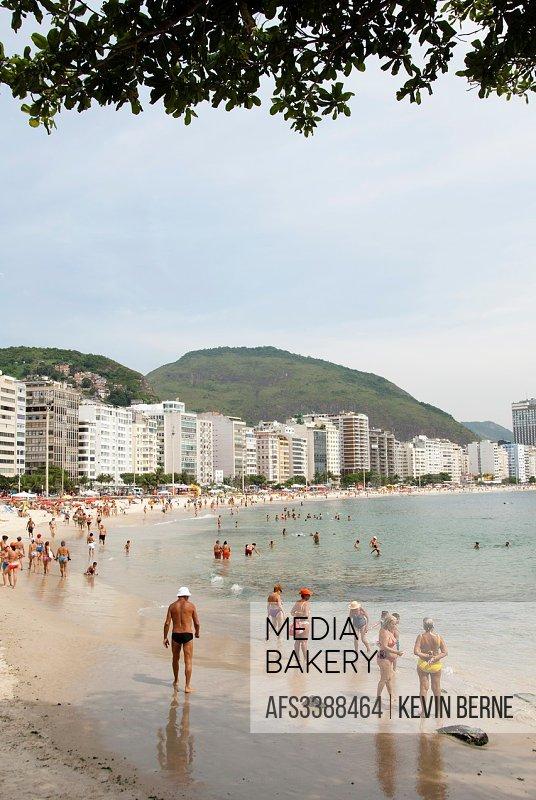 Copacabana Beach as seen from Arpoador, Rio de Janiero, Brazil.