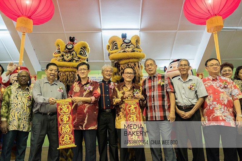 Chinese New Year dinner at Sungai Maong Community Hall, Kuching, Sarawak, Malaysia.