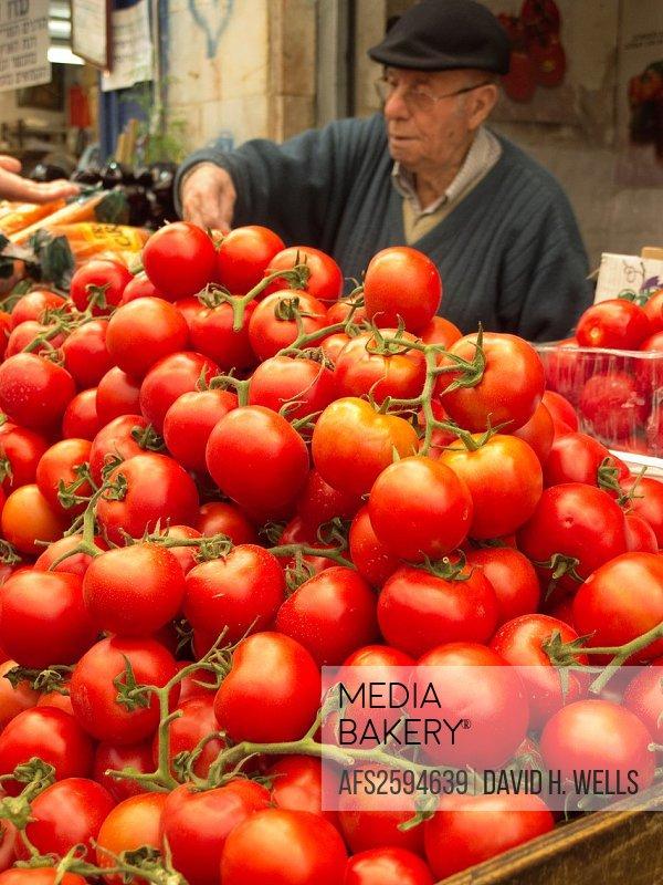 Produce market in Jerusalem, Israel