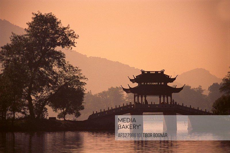 China Zhejiang province Hangzhou West Lake scenery