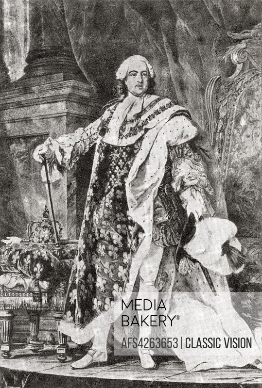 Louis XV , 1710-1774, aka Louis the Beloved. King of France. From Hutchinson's History of the Nations, published 1915.