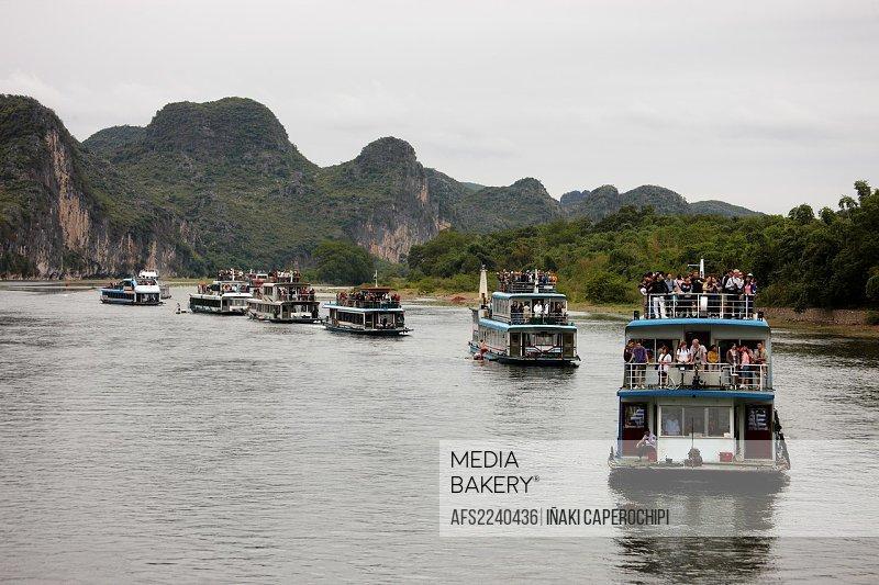 Li River Cruise, Li River, Guilin, Guangxi, China