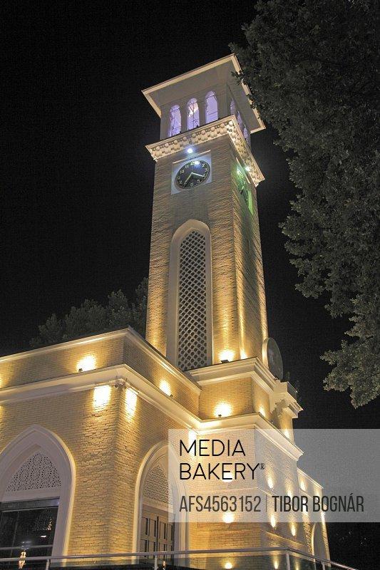 Uzbekistan; Tashkent, Tashkent Chimes, bell tower,.
