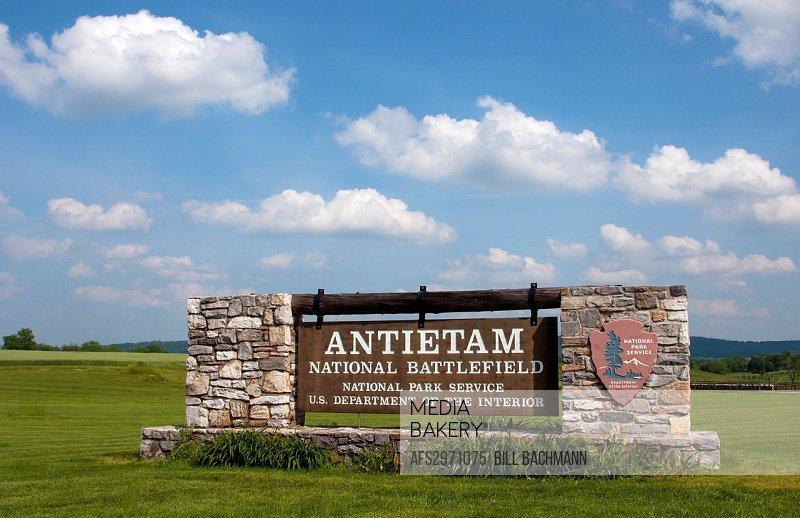Antietam National Battlefield Famous Civil War Battleground Memorial in Antietam Maryland with monument
