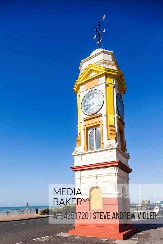 England, East Sussex, Bexhill, Seafront Clock Tower