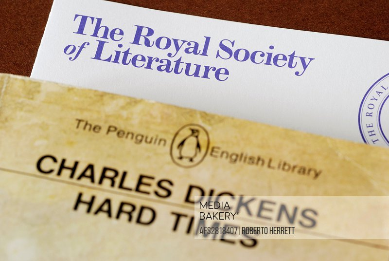 Royal Society of Literature leaflet and Charles Dickens classic novel