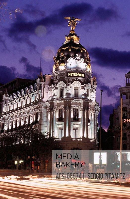 Metropolis Building. Madrid. Spain