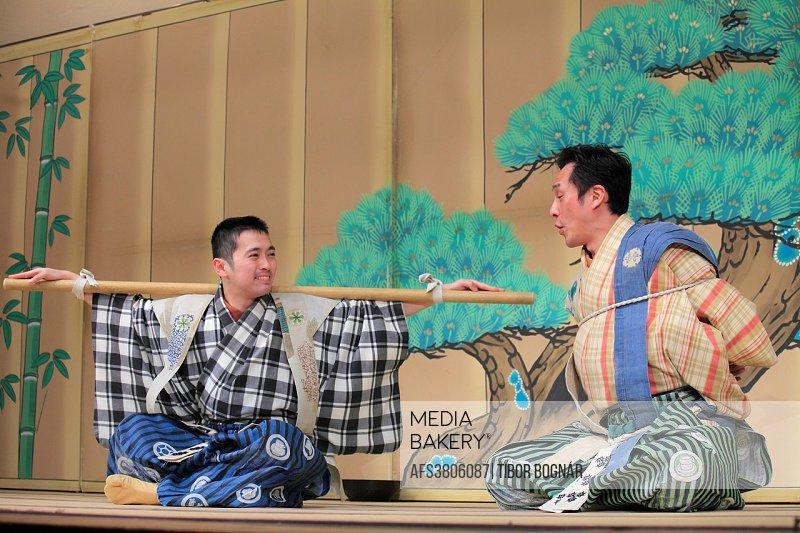 Japan; Kyoto; kyogen, theatre, comic play, actors,.