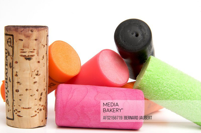 Wine cork and rubber stoppers