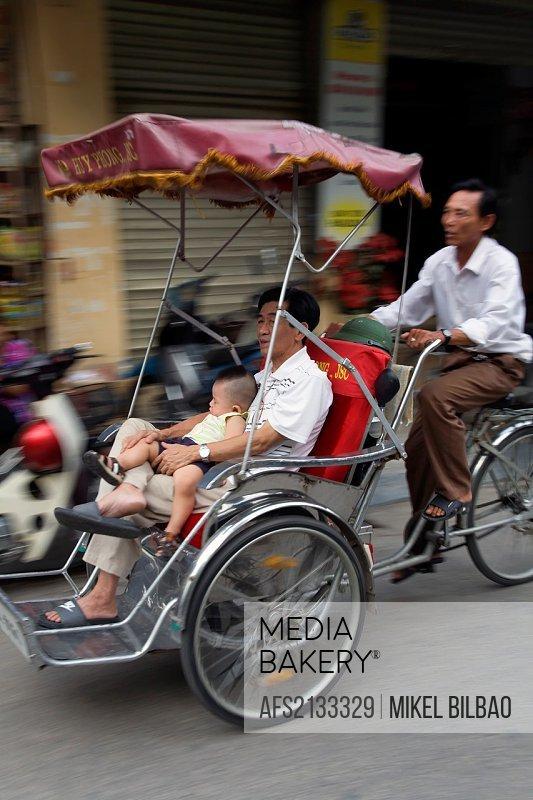 traditional transport  Hanoi, Vietnam