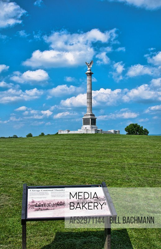 Antietam National Battlefield Famous Civil War Battleground Memorial in Antietam Maryland with monument