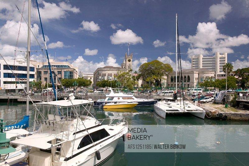 Barbados, Bridgetown: The Careenage Inner Harbor, Daytime