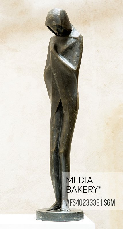Contemplation, patinated plaster sculpture 1955 by French sculptor Jean Henninger.