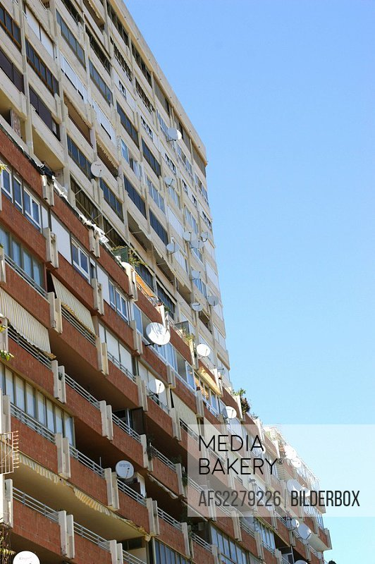 Spain, Andalusien, Malaga, Residential building