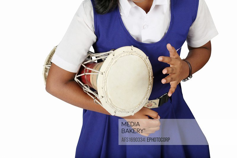 Bagalbacha, also known as monkey drum. Musical instrument. India.
