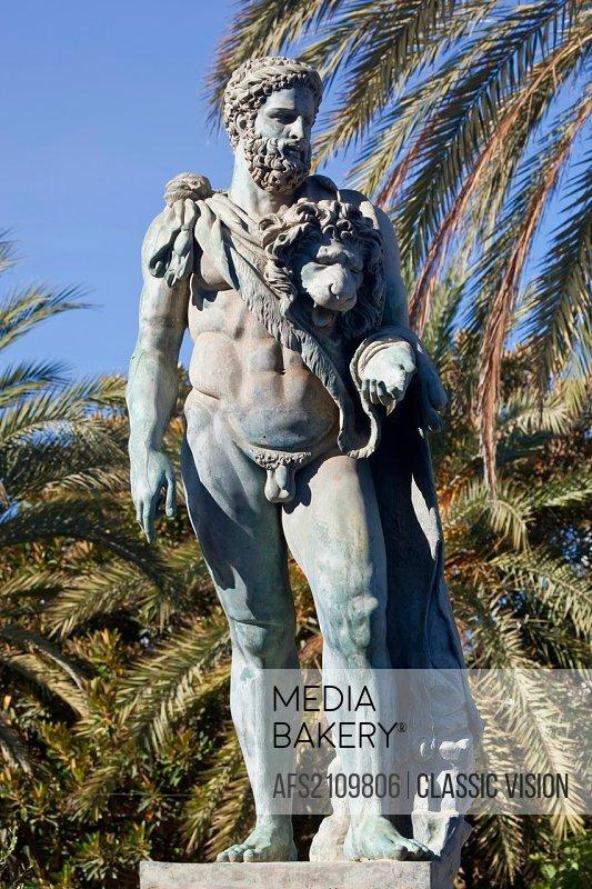 Statue of Hercules at Puerto Jose Banus, Marbella, Spain