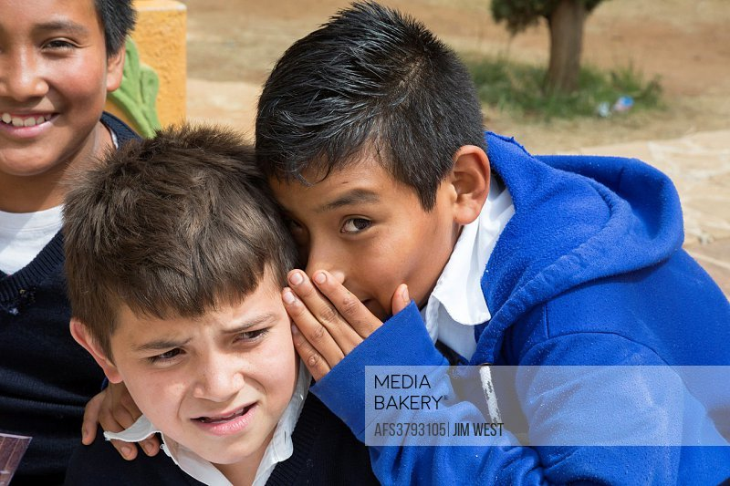 Santa Ana Zegache, Oaxaca, Mexico - Sixth grade school boys.