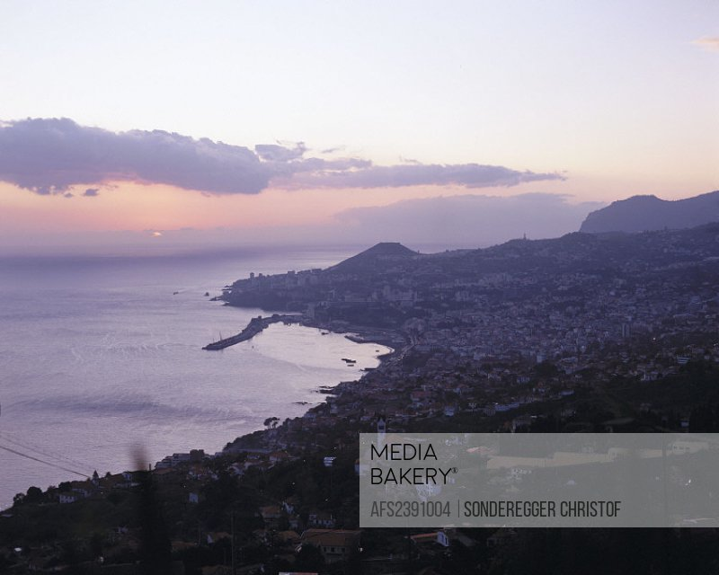 10214430, evening, Funchal, Madeira, Portugal, sundown, overview, clouds, weather,