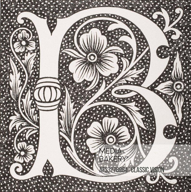 Decorative capital letter B.