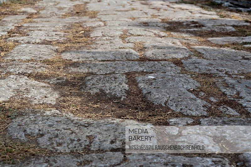 Kos, Archeology, archeology park, excavation, excavation site, driving channels, lanes, Greece, Europe, port, island, Wall, Walls, Sea, Mediterranean ...