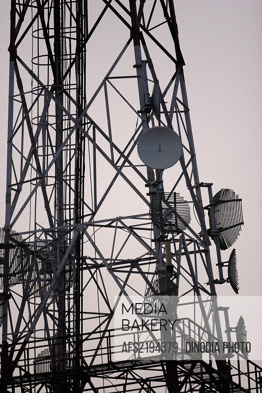 Close ups of Communication tower