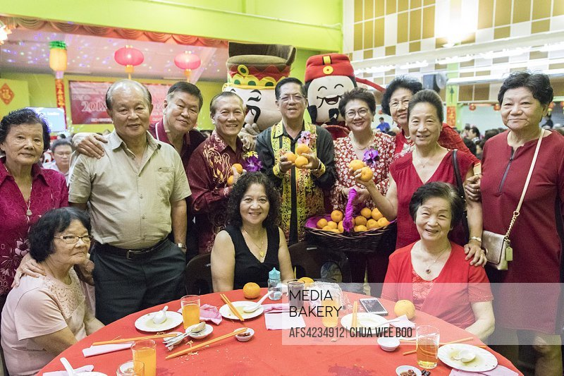 Chinese New Year dinner at Sungai Maong Community Hall, Kuching, Sarawak, Malaysia