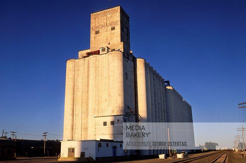 Grain elevator, Cimmarron, Kansas.