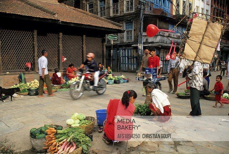 market,Durbar Square,Kathmandu,Nepal,Himalaya,South Asia