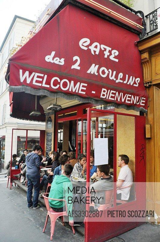 Montmartre, Paris, France, Cafe Le 2 Moulins