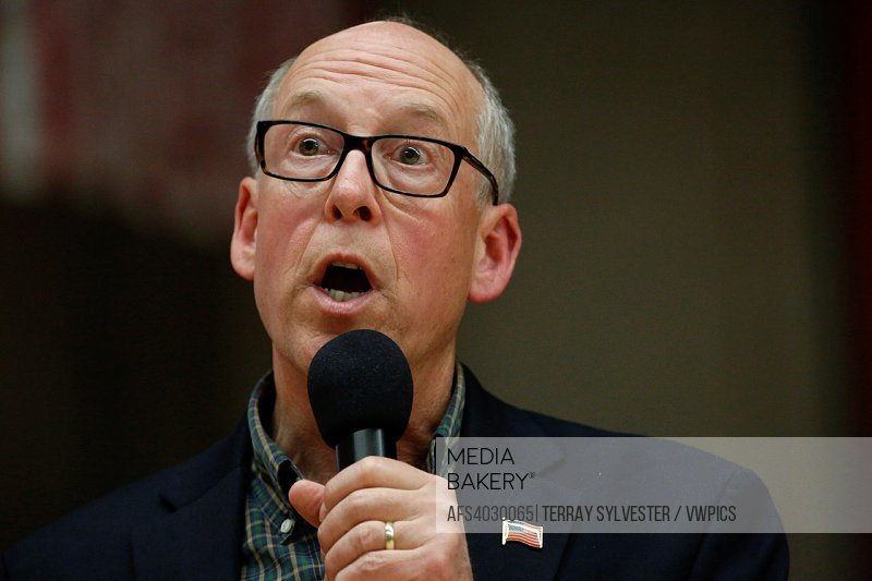 U. S. Rep. Greg Walden (R-OR) speaks during a constituent town hall meeting on April 13, 2017. Bend, Oregon, United States.