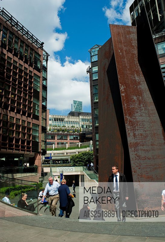 London, England, People, Street Scenes, Broadgate District