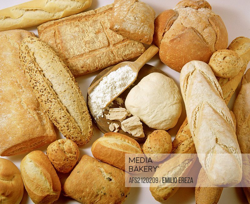 Assorted bread and dough