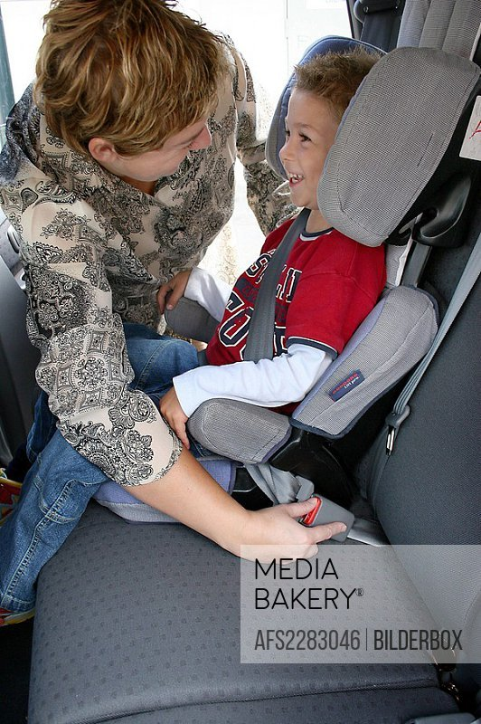 Child syfety seat in a car