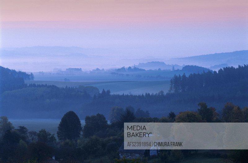 Bohemia, Calm, Calmness, Color, Colors, Colour, Colours, Czech Republic, Dawn, Daytime, Europe, Exterior, Fog, Landsca