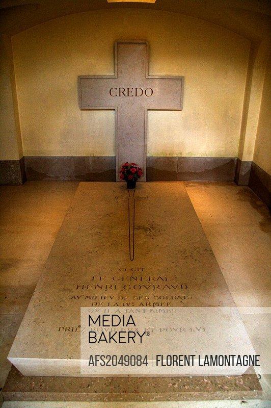 France, Champagne-Ardenne, Marne 51, Sainte Marie à Py - Memorial de Navarin - Grave of General Henri Gouraud
