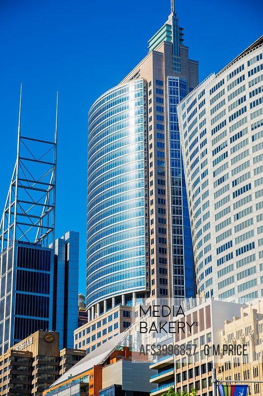 Sydney corporate high rise along Macquarie Street.