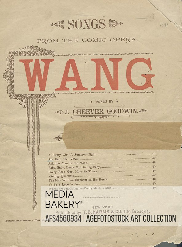 Are then the vows? Additional title: Are then the vows so lately spoken, forgotten quite by thee? [first line] Additional title: Wang. Are then the vo...