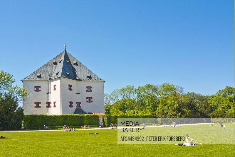 Letohradek Hvezda, the star shaped hunting lodge, Park Obora Hvezda, Bila Hora, Prague, Czech Republic.